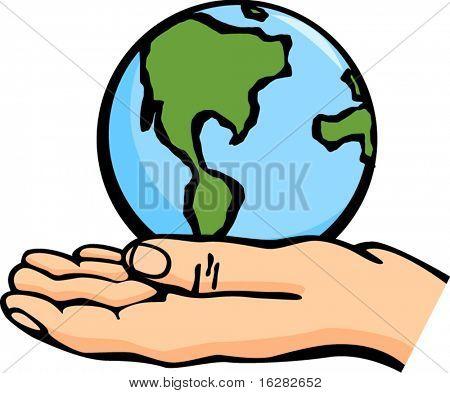el mundo en la palma de una mano