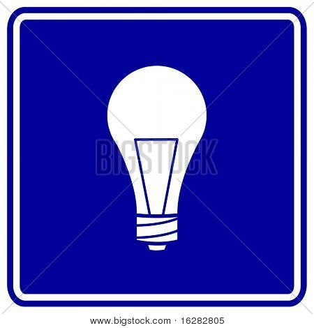 light bulb sign