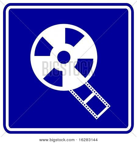 film reel sign