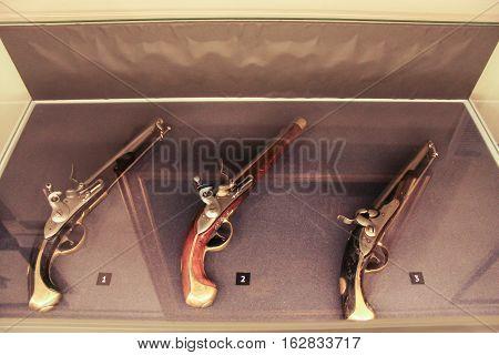 Gatchina, Russia - 3 December, Exposure silicon gun, 3 December, 2016. Visit the Museum Reserve Gatchina Palace.
