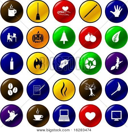 diverse button set 13