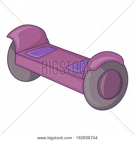 Self-balancing scooter icon. Cartoon illustration of self-balancing scooter vector icon for web design