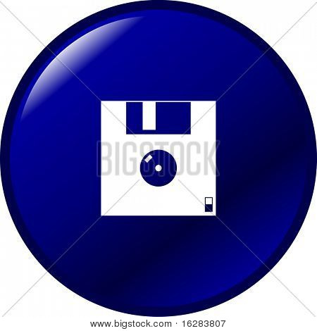 floppy disk or diskette button