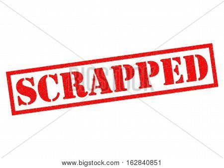 SCRAPPED red Rubber Stamp over a white background.