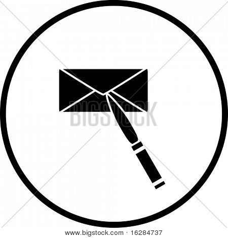 letter opener and envelope symbol