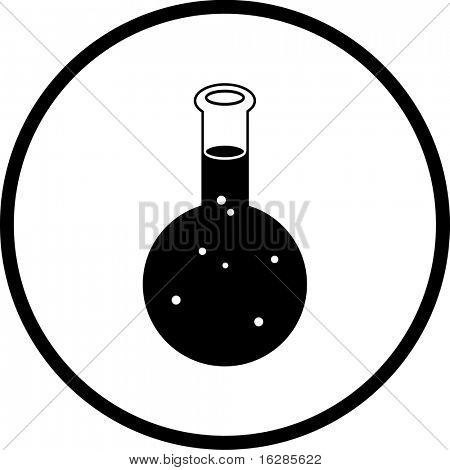chemical flask symbol