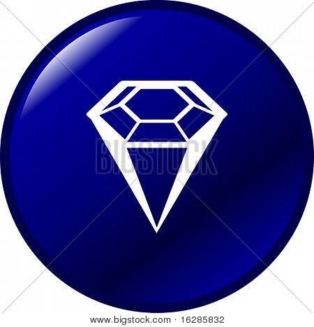 diamond gemstone button