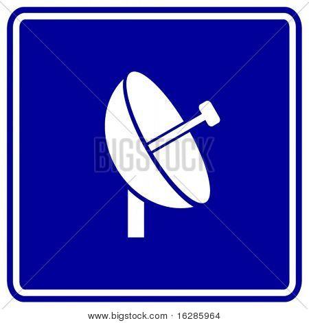 satellite antenna sign