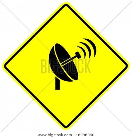 sinal de transmissão da antena