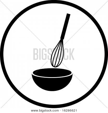 whisk and bowl symbol