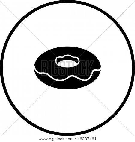 glazed or covered donut symbol