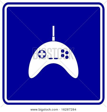 video game controller sign
