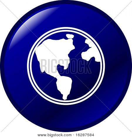 botón de planeta tierra