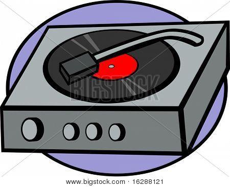 lp vinyl disc player