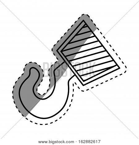 Construction hook crane icon vector illustration graphic design
