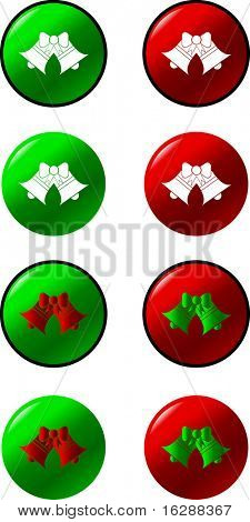 christmas or wedding bells buttons