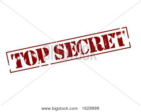 Rubber Stamp - Top Secret