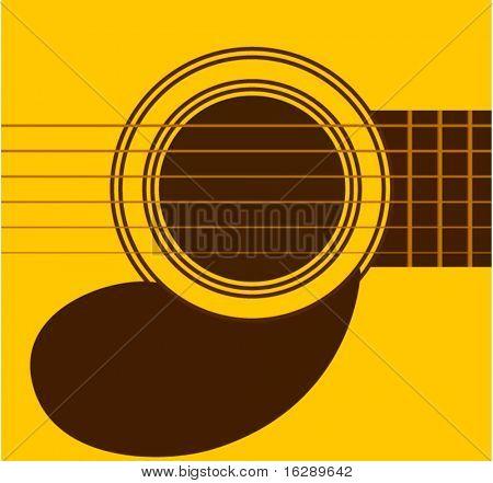 Gitarre klingen Loch