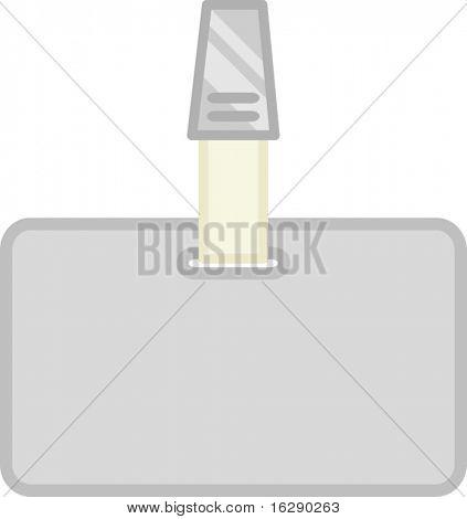 modelo de identificação ou identificação em branco