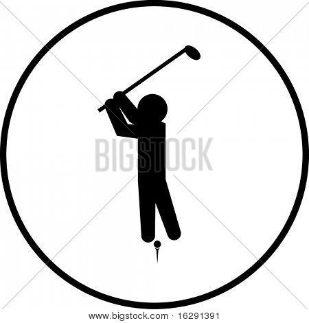 playing golf symbol