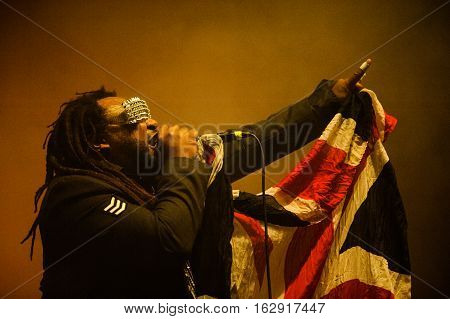 TOLMIN, SLOVENIA - JULY 26TH: WELSH METAL BAND SKINDRED PERFORMING AT METALDAYS FESTIVAL ON JULY 26TH, 2016 IN TOLMIN, SLOVENIA
