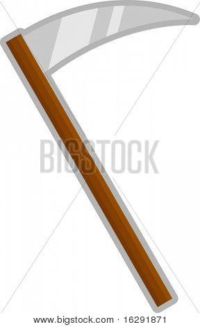 scythe death blade or agricultural tool