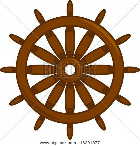 ship or boat steering wheel