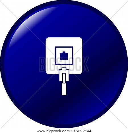 phone jack connection box button