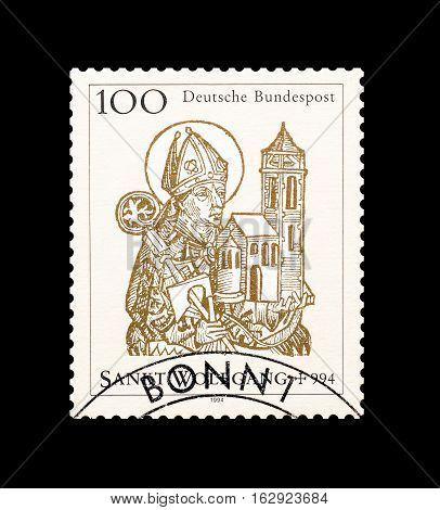 GERMANY - CIRCA 1994 : Cancelled postage stamp printed by Germany, that shows Saint Wolfgang.
