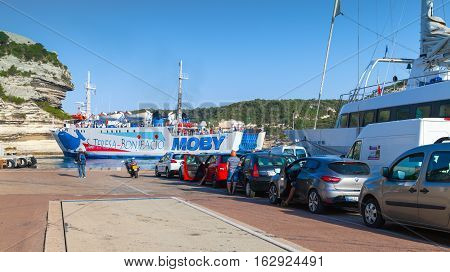 Cars With Ordinary People Waiting Ferry Boarding