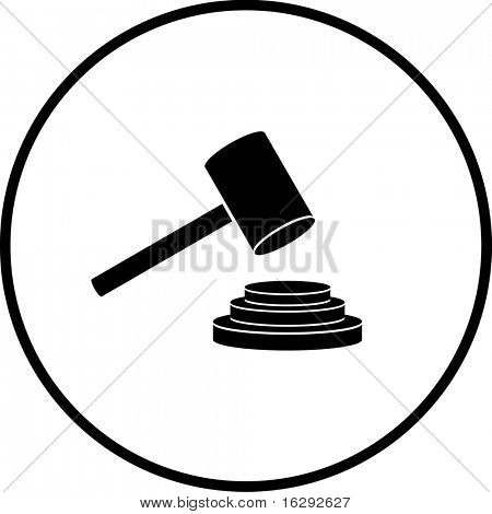 judge or auction hammer symbol