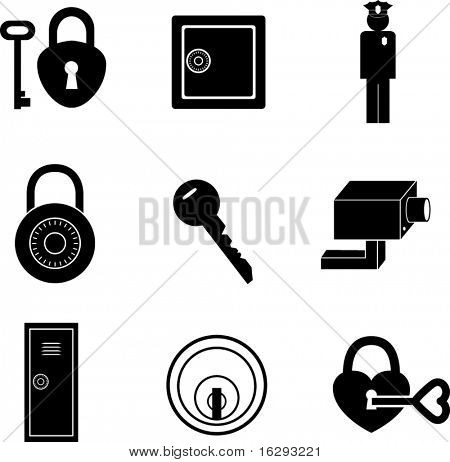 safety and security symbols mini set