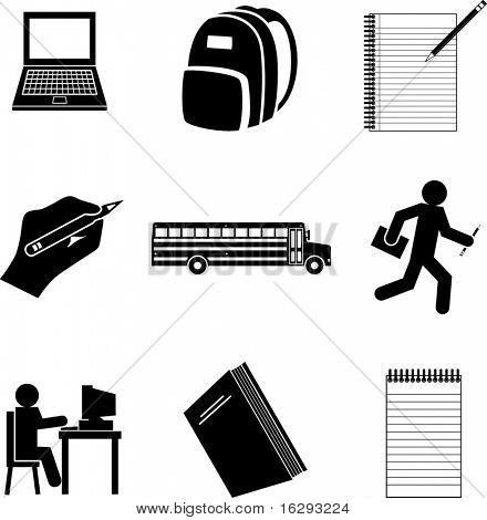 school symbols mini set