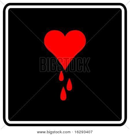 heart bleeding sign