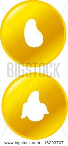 mangoes fruit buttons