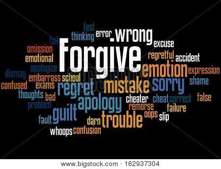 Forgive, Word Cloud Concept 3