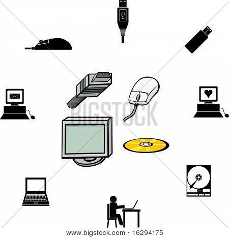 computer illustrations and symbols set 2