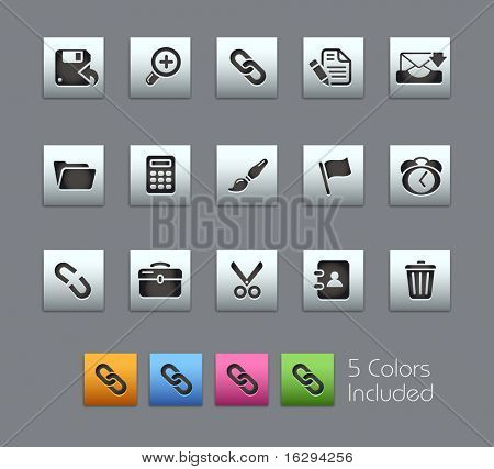 Interface // Satinbox Series -------It includes 5 color versions for each icon in different layers ---------