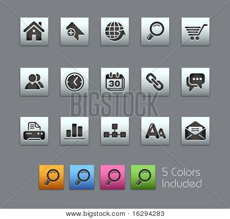 Web Site & Internet  // Satinbox Series -------It includes 5 color versions for each icon in different layers ---------