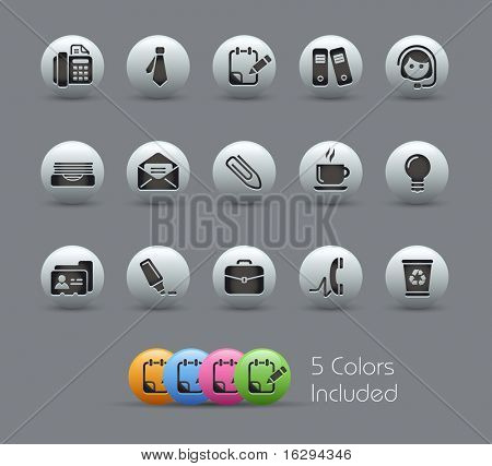 Office & Business // Pearly Series -------It includes 5 color versions for each icon in different layers ---------