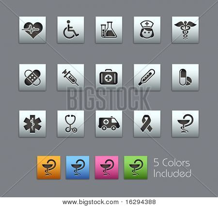 Medicine & Heath Care // Satinbox Series -------It includes 5 color versions for each icon in different layers ---------