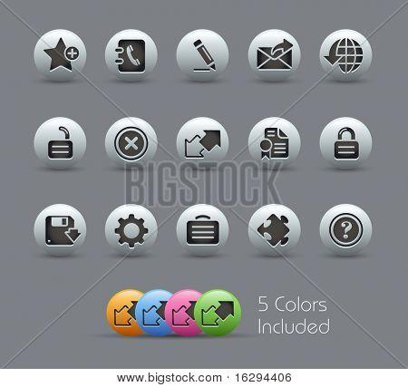 Web 2.0 / / serie nacarada---incluye 5 versiones de color para cada icono en diferentes capas---