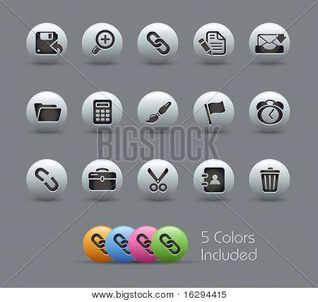 Interfaz / / serie nacarada---incluye 5 versiones de color para cada icono en diferentes capas---