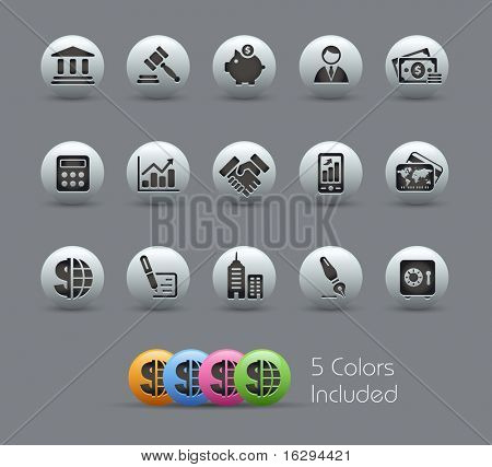 Business & Finance // Pearly Series -------It includes 5 color versions for each icon in different layers ---------