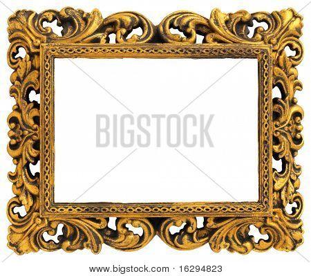 Marco de oro con un patrón decorativo