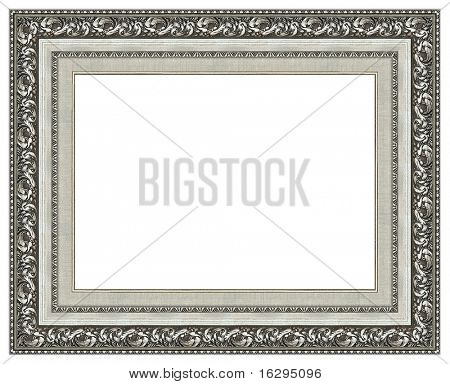 Picture silver frame with a decorative pattern