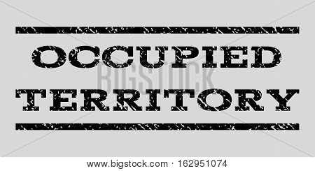 Occupied Territory watermark stamp. Text tag between horizontal parallel lines with grunge design style. Rubber seal stamp with dirty texture.