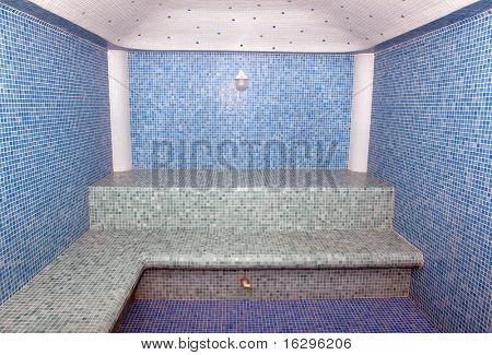 The Turkish bath which has been laid out by a ceramic tile