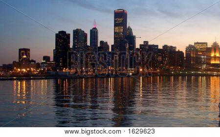 Chicago Night Skyline