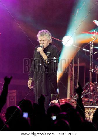 VITEBSK, BELARUS - MARCH 20: The rock singer Dan McCafferty on performance of rock group Nazareth on march 20, 2010 in Vitebsk, Belarus